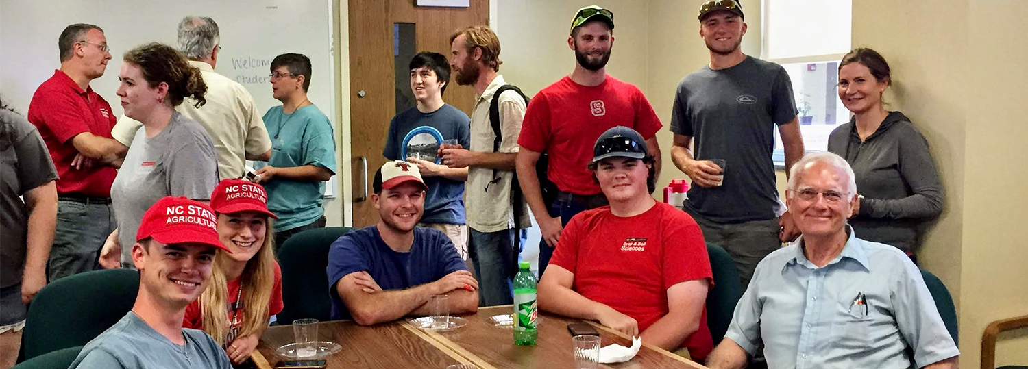 group of students eating at a table